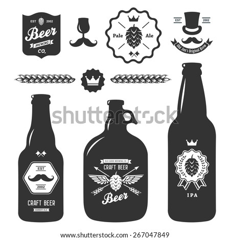 set of vintage craft beer