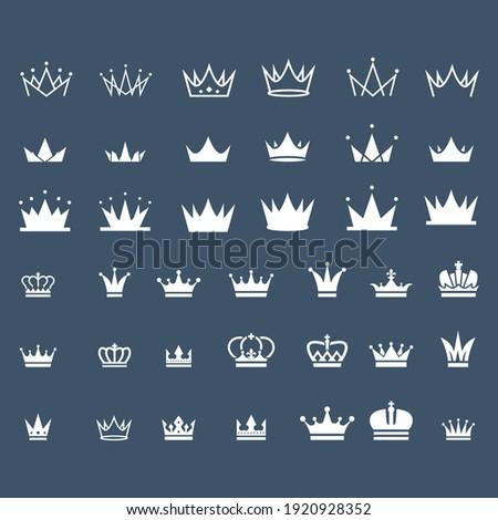 set of vintage crown logo