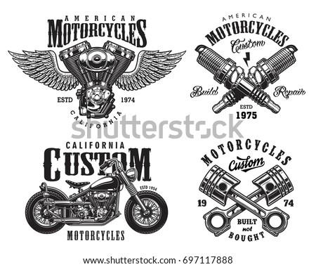 Motorcycle Bike vector design illustration template - Download Free
