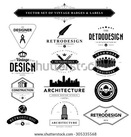 set of vintage  designer badges ...