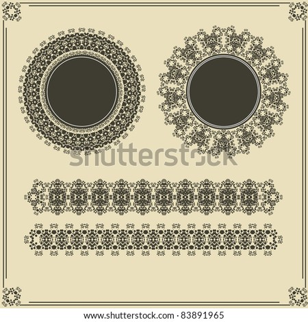 set of vintage frames and borders