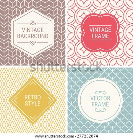 set of vintage frames in red