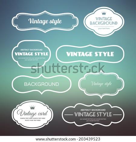 set of vintage frames on a soft