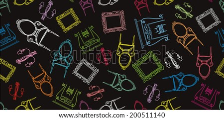 Line Drawing Vector Graphics : Desk accessories line drawing vectors download free vector art