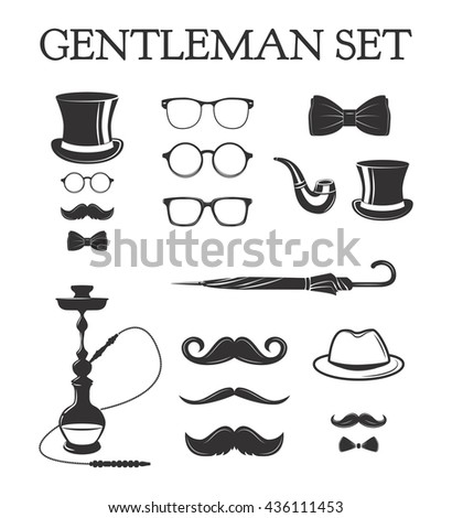 Top Hat, Glasses, Moustache, Bow Tie, Gloves, Smoking Pipe Men/'s Steampunk Set