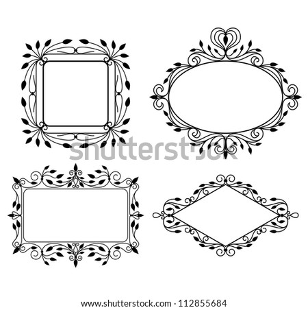 Set of vintage graphic frames