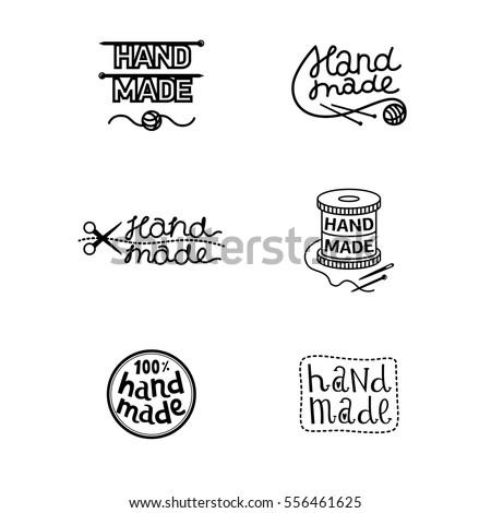 set of vintage handmade badges  ...