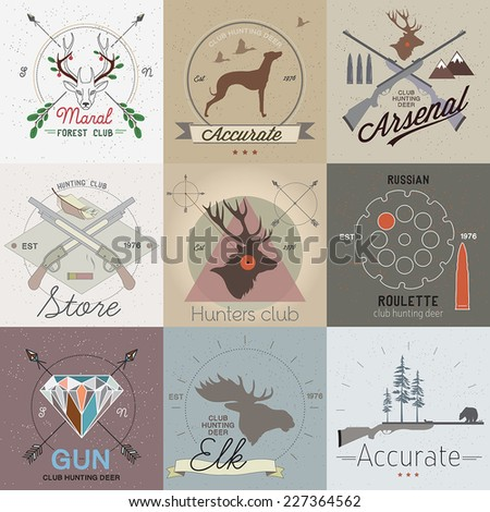 set of vintage hunting labels