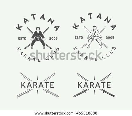 set of vintage karate or