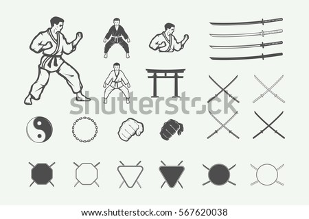 set of vintage karate or