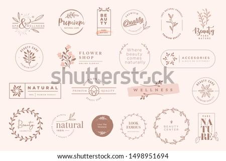 set of vintage labels and