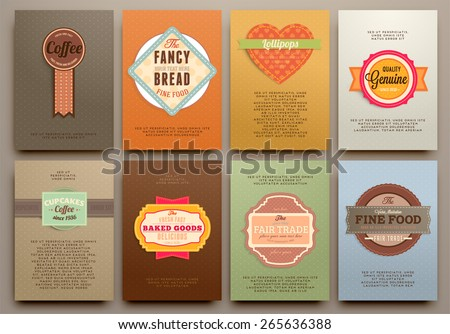 set of vintage labels frames and brochures vector design templates collection for banners
