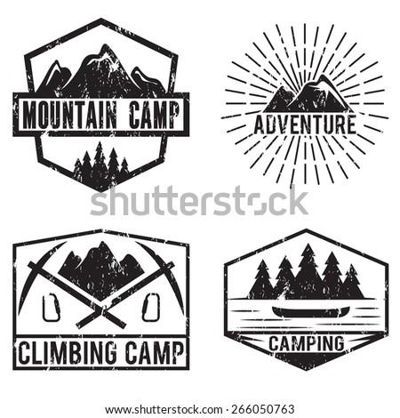 set of vintage labels mountain...