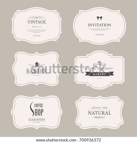 set of vintage labels old fashion. banner illustration vector.