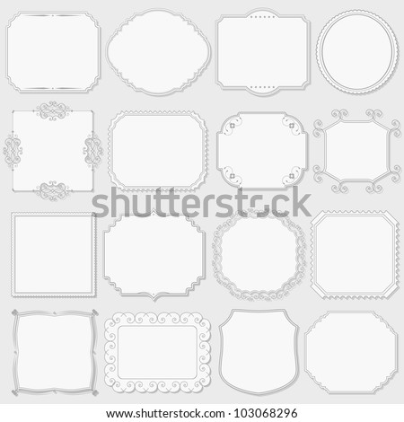 Set of vintage labels, vector eps10 illustration