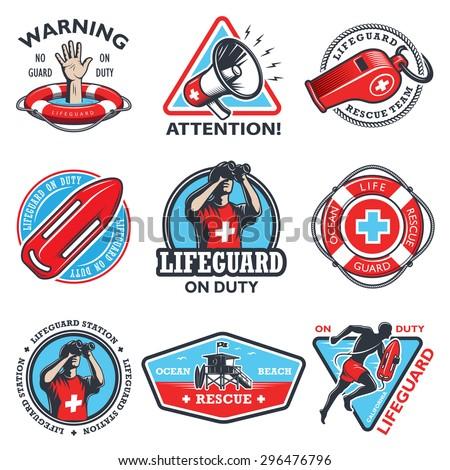 set of vintage lifeguard