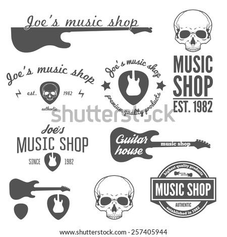 set of vintage logo  badge