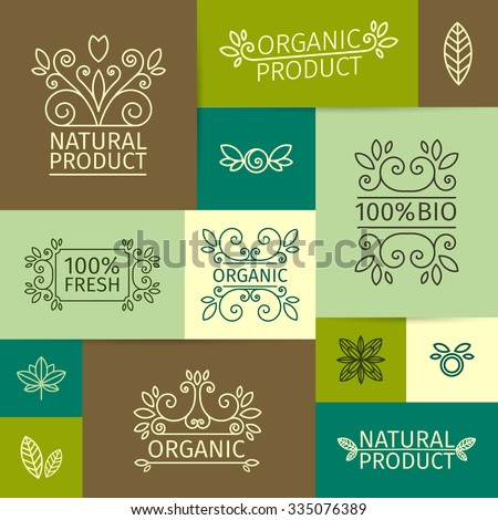 set of vintage logos  signs