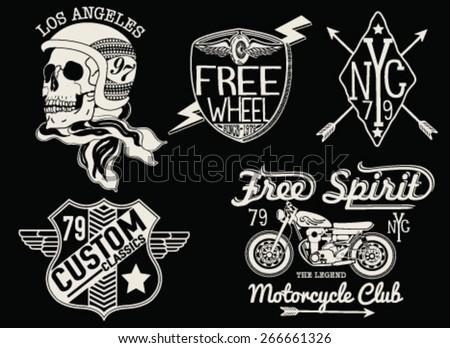 set of vintage motorcycle...