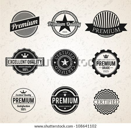 Set of Vintage Premium labels