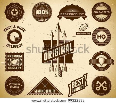 Set of vintage Premium Quality labels