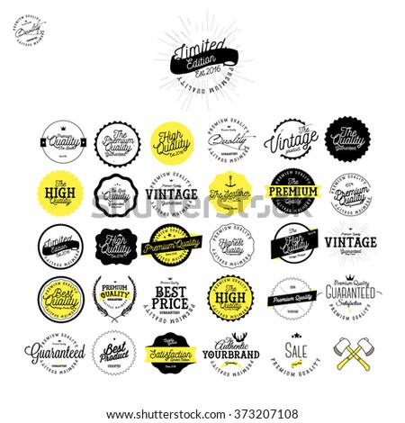 Set of Vintage Premium Quality Stickers  And Labels Set