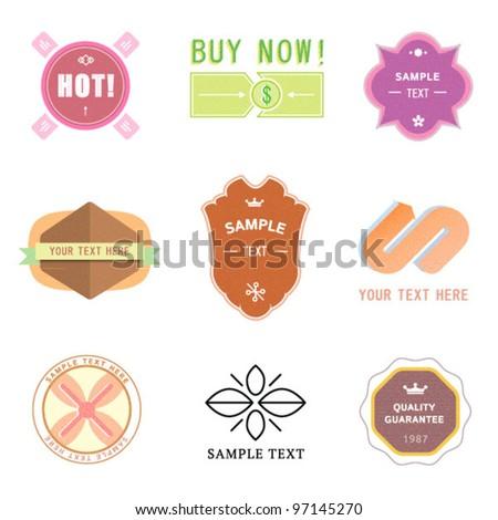 Set of vintage retro badges and labels