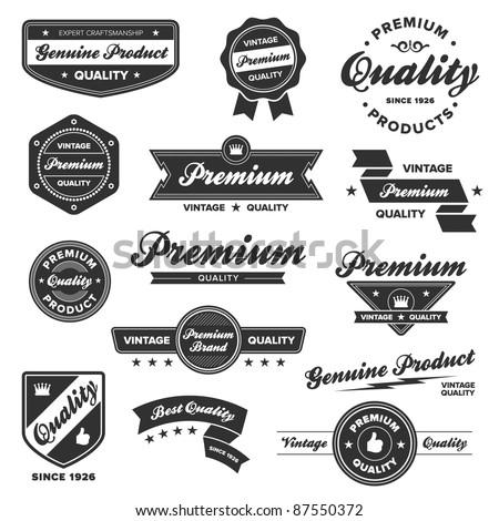 set of vintage retro premium