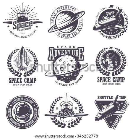 set of vintage space and