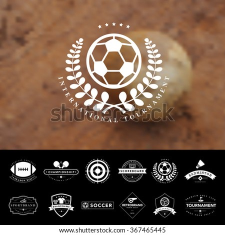 Set of vintage  sport badges and labels,Vector eps10