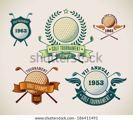 set of vintage styled golf