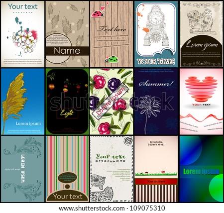 Set of vintage vector cards. Vector illustration EPS10