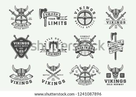 set of vintage vikings