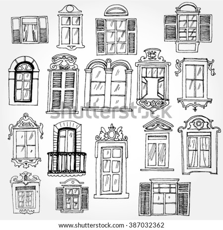 Set of Vintage Windows