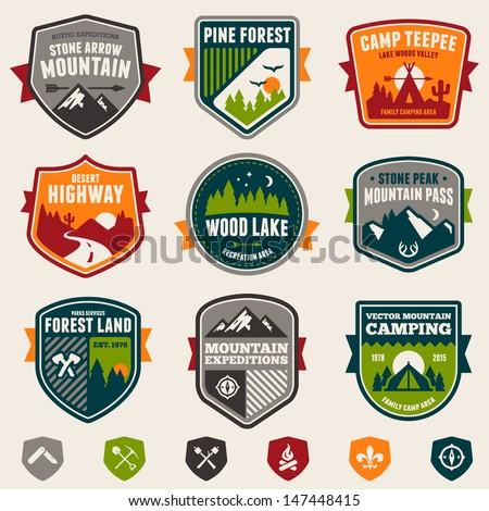 set of vintage woods camp...