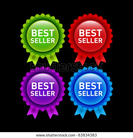 set of vivid best seller ribbon rosettes