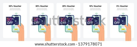 Set of Voucher in Modern Colour Transitions. Can Use Immediately for Promotions, Website, Commercial And Others. Vector.