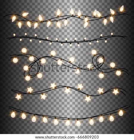 set of warm light lamps