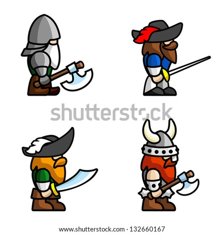 set of warriors each character