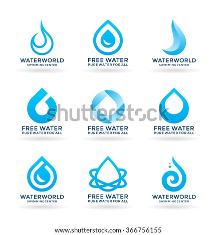 set of water design elements  5