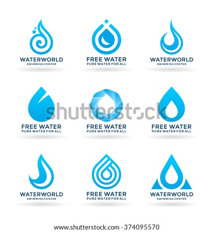 set of water design elements  6