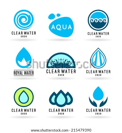 set of water design elements