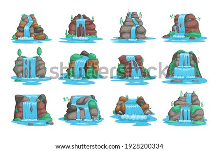 set of waterfall river