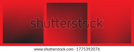 Set of Wave Oblique Smooth Lines Pattern in Vector stock photo