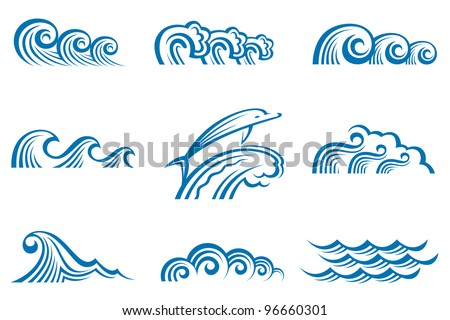 set of waves