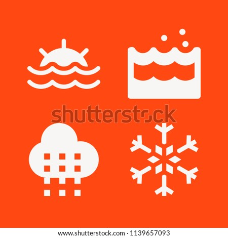 set of 4 weather filled icons