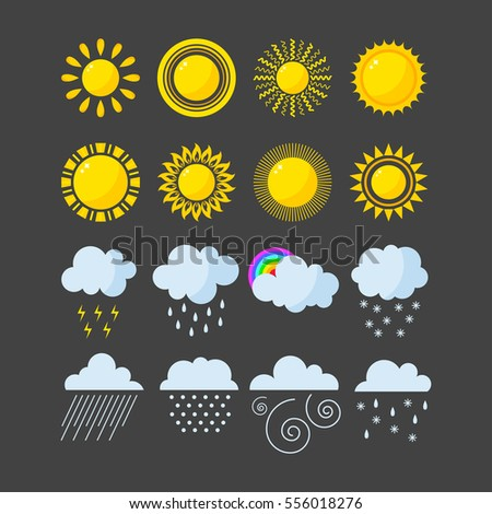 Set of weather icons vector.