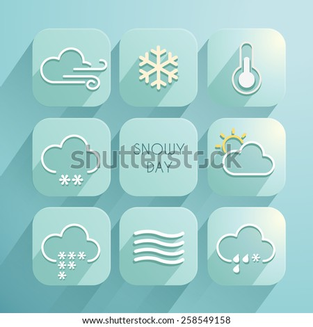 Set of Weather Icons : Weather for each day