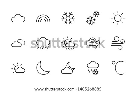 Free Vector Weather Icon Set - Download Free Vectors