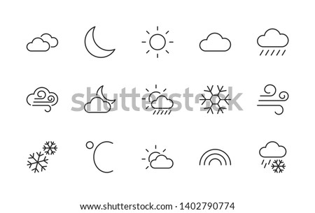 Free Linear Weather Icons - Download Free Vectors, Clipart